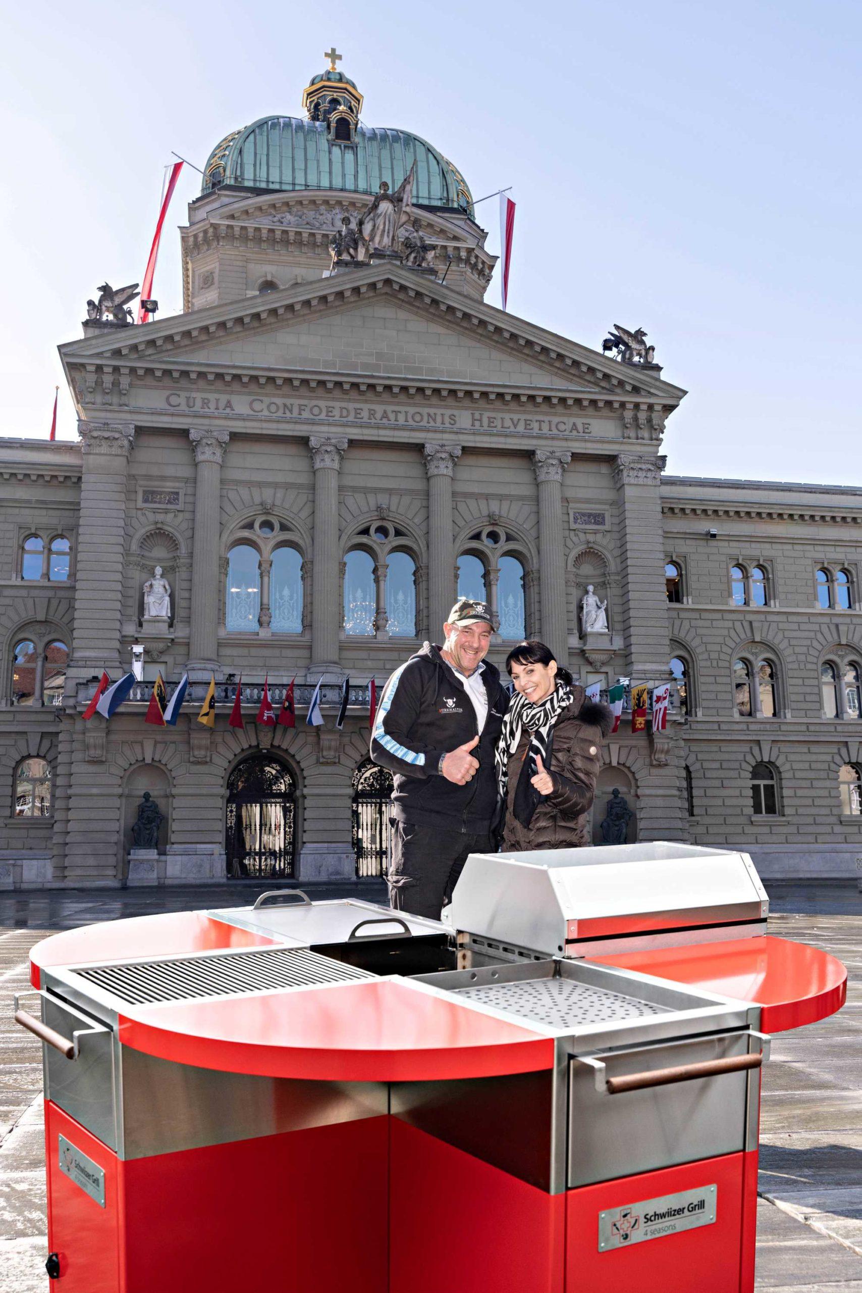 Bern Bundeshaus Anita Burri und Stefan Burkhalter